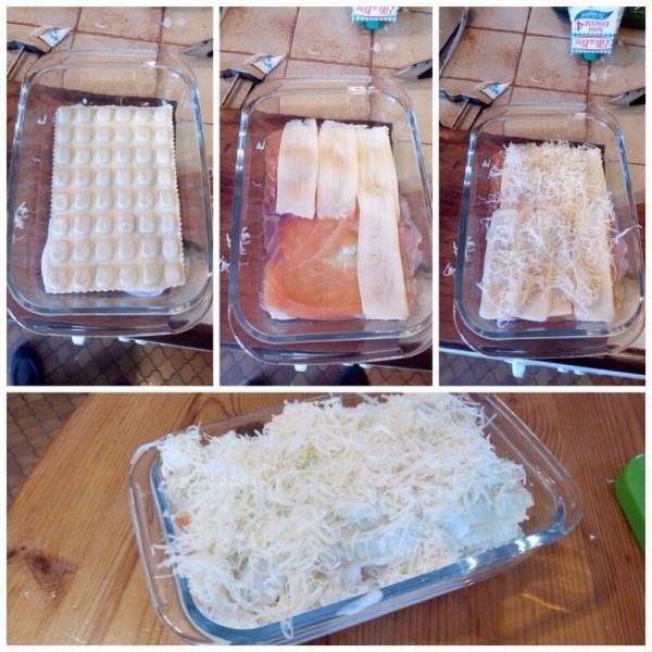 gratin de raviole au saumon fumé 02