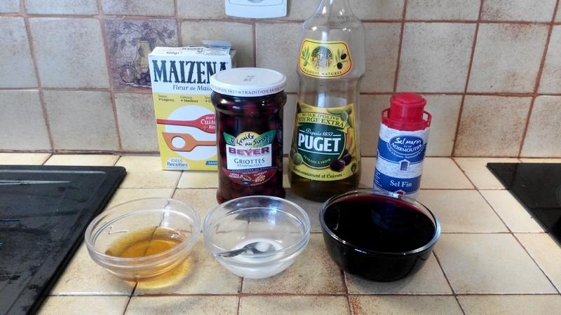 cailles sauce aux cerises et vin rouge 3