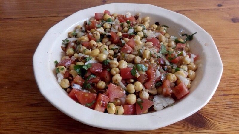Salade de pois chiches à la libanaise