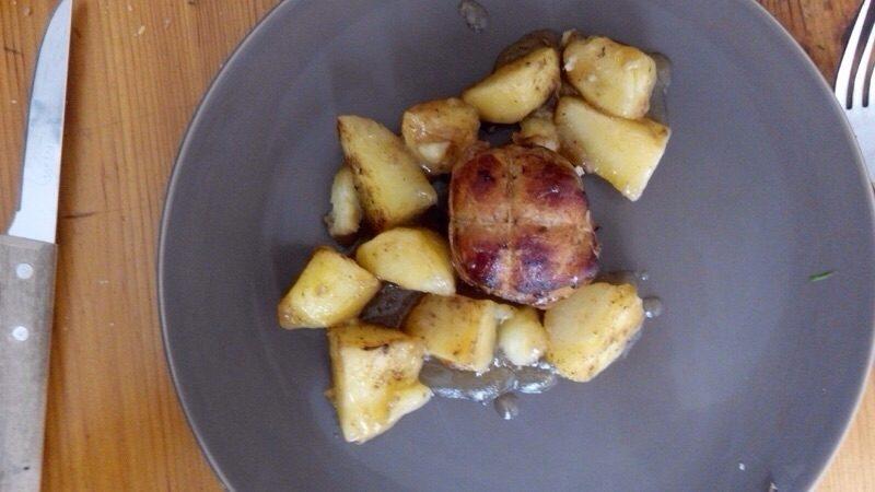 Paupiettes de porc pomme de terre sautées 2